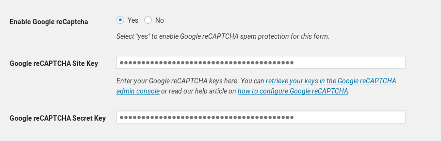 New integration with Google reCAPTCHA - Mailchimp for WordPress