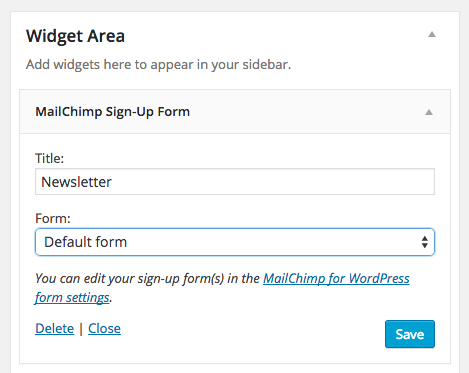 Mailchimp Sign-Up Widget