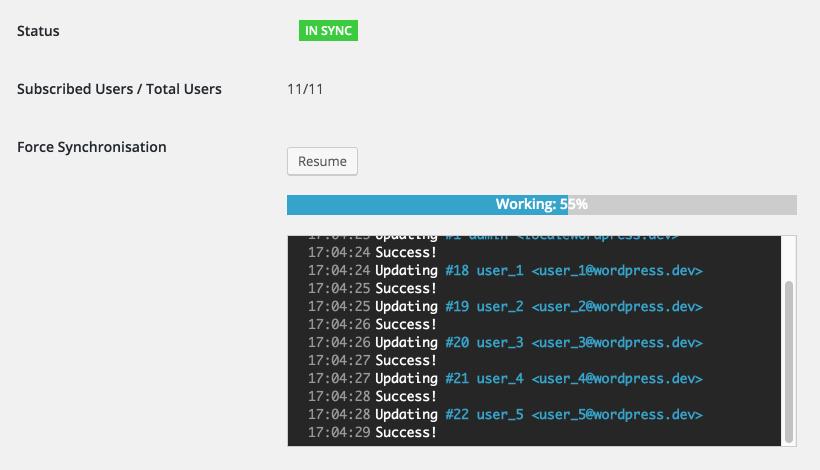 Synchronizing an existing user base