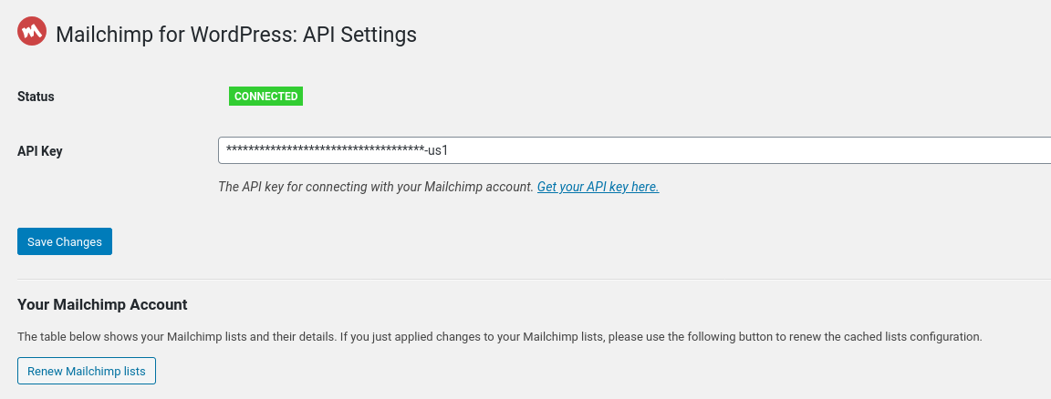 Refresh your Mailchimp lists