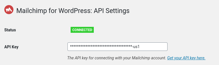 Add your Mailchimp API key